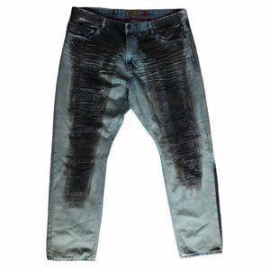 Makobi MK Denim Jeans light blue distress 42x32